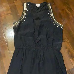 Parker Size M black silk top